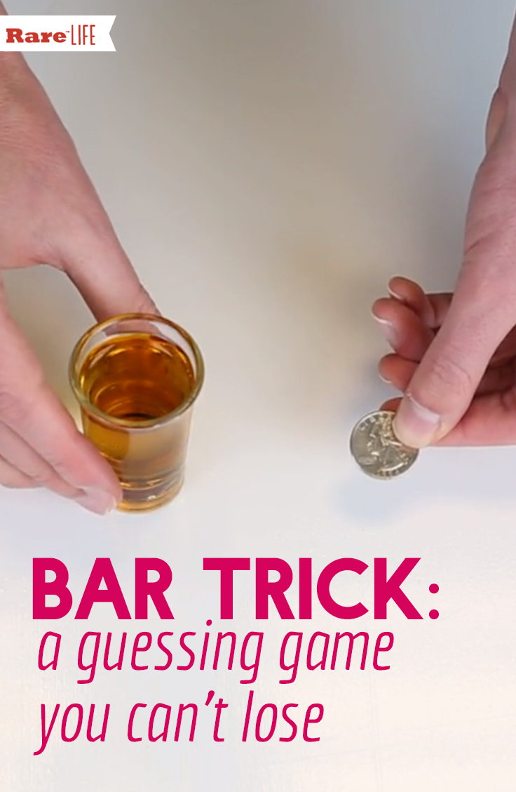This bar riddle hinges on a guessing game that you can't