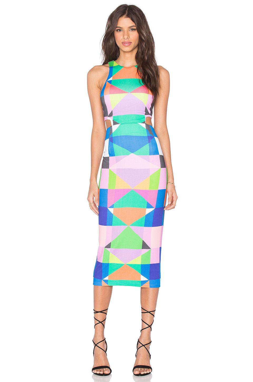 Pink cut out dress  Cut Out Midi Dress Diamonds Pastel Pink  Mara Hoffman  Pinterest