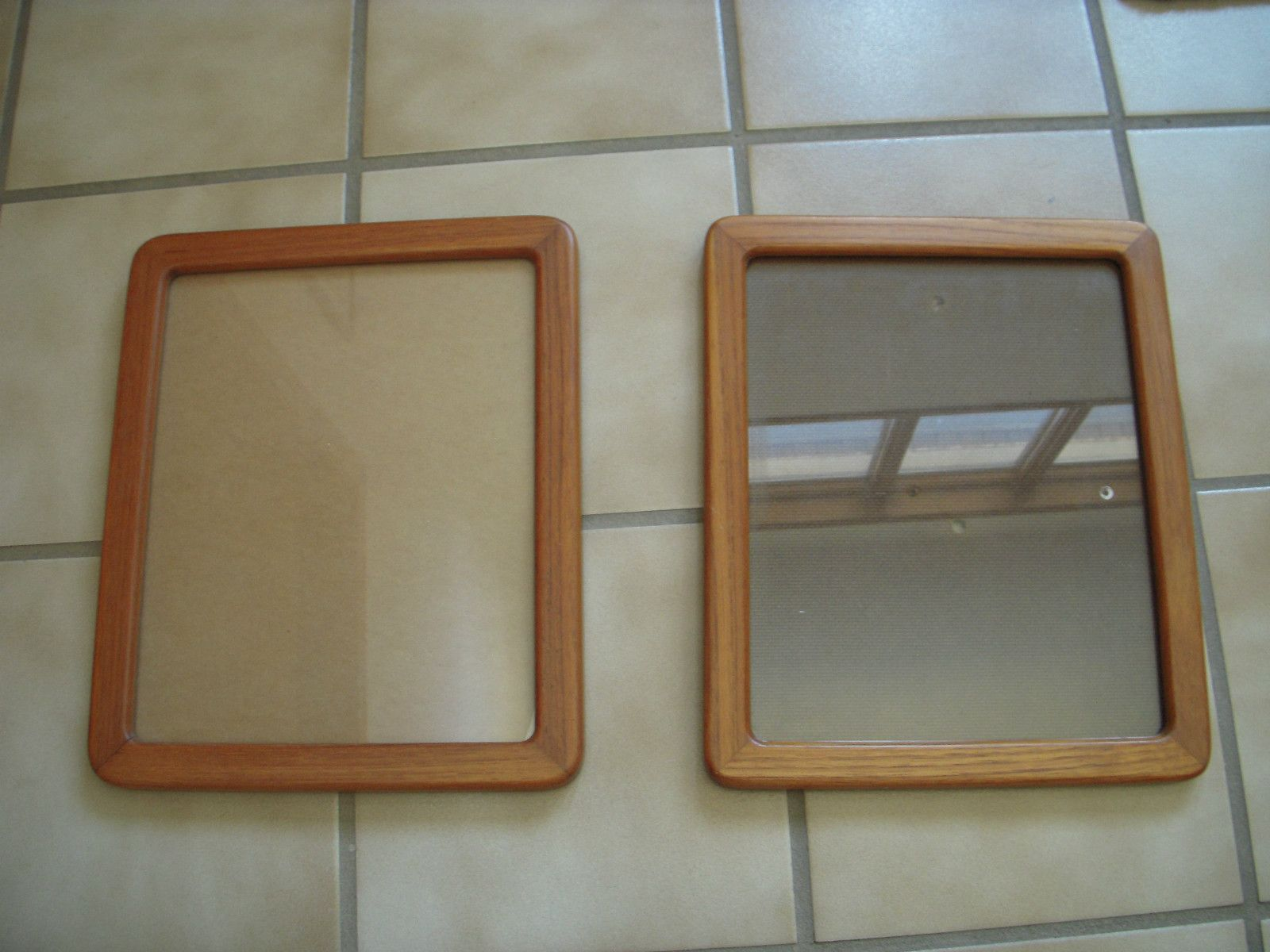 Set of 2 Teak wood picture frames, 8x10, mid century modern, made in ...