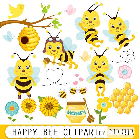 Honey Bee Clipart Bee Clipart Bees Clip Art Etsy Bee Clipart Bumble Bee Clipart Bee Shower