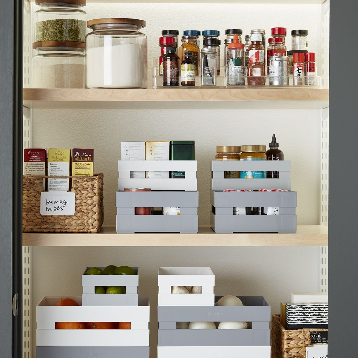Simple Ways To Keep Your Small Pantry Organized Pantry Bin Kitchen Organization Small Storage Containers Kitchen storage organization ideas