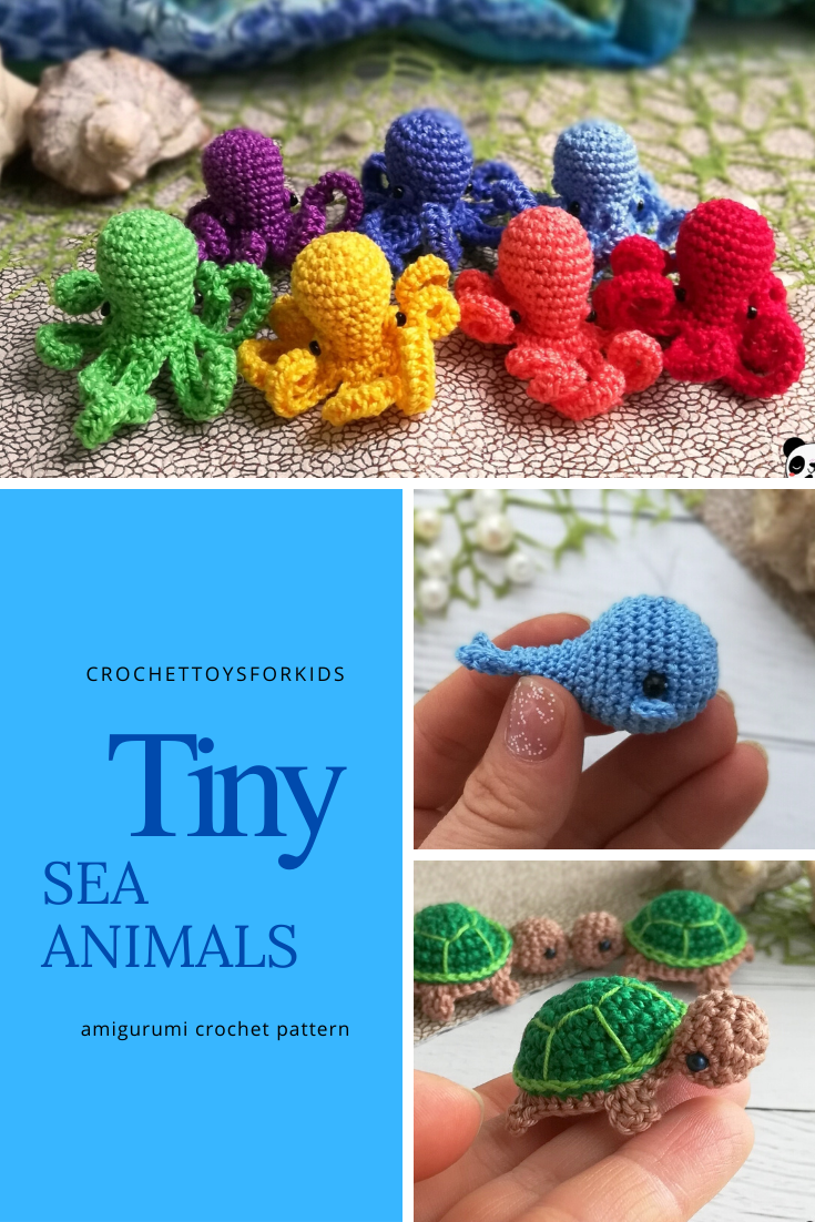 Crochet sea animals pattern