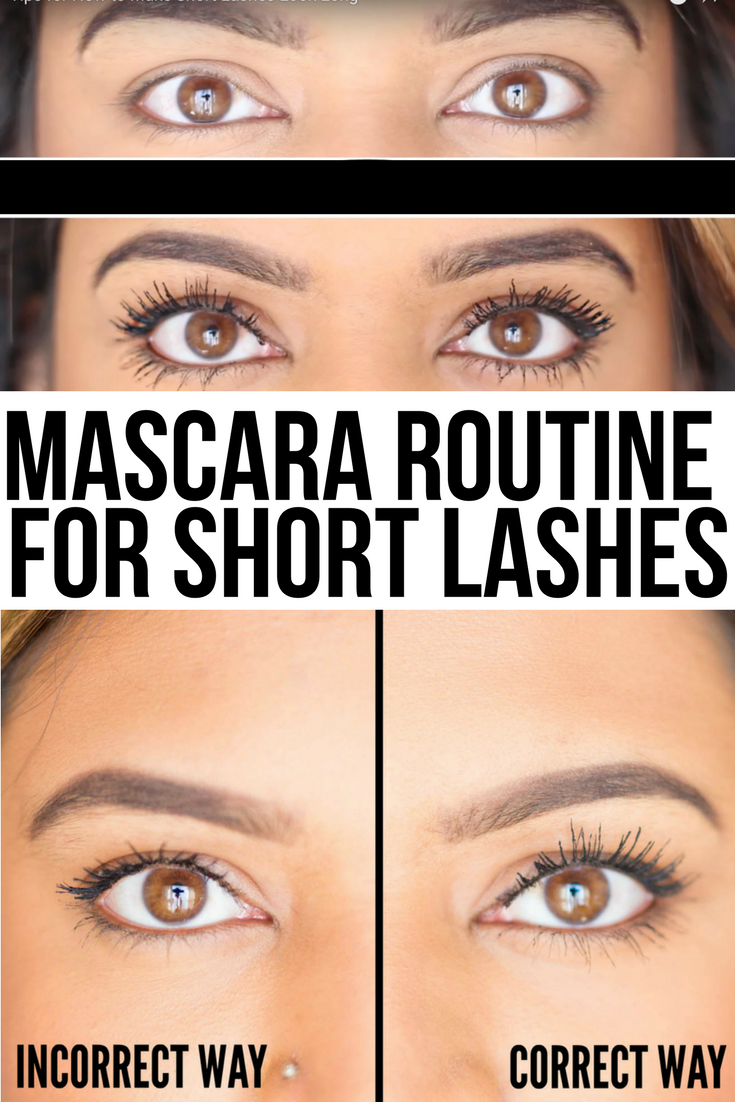 5b1945417ec Mascara Routine for Short, Straight Lashes If you have really short,  straight, sparse