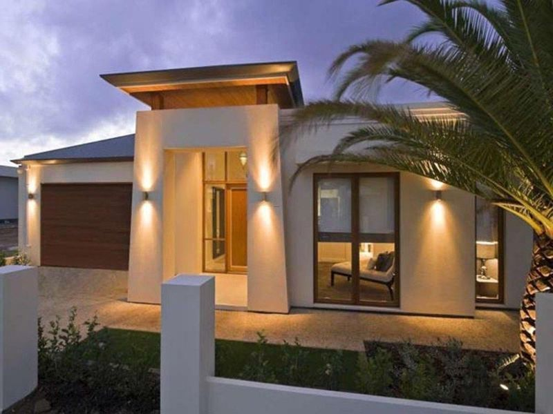exterior wall lights of modern house