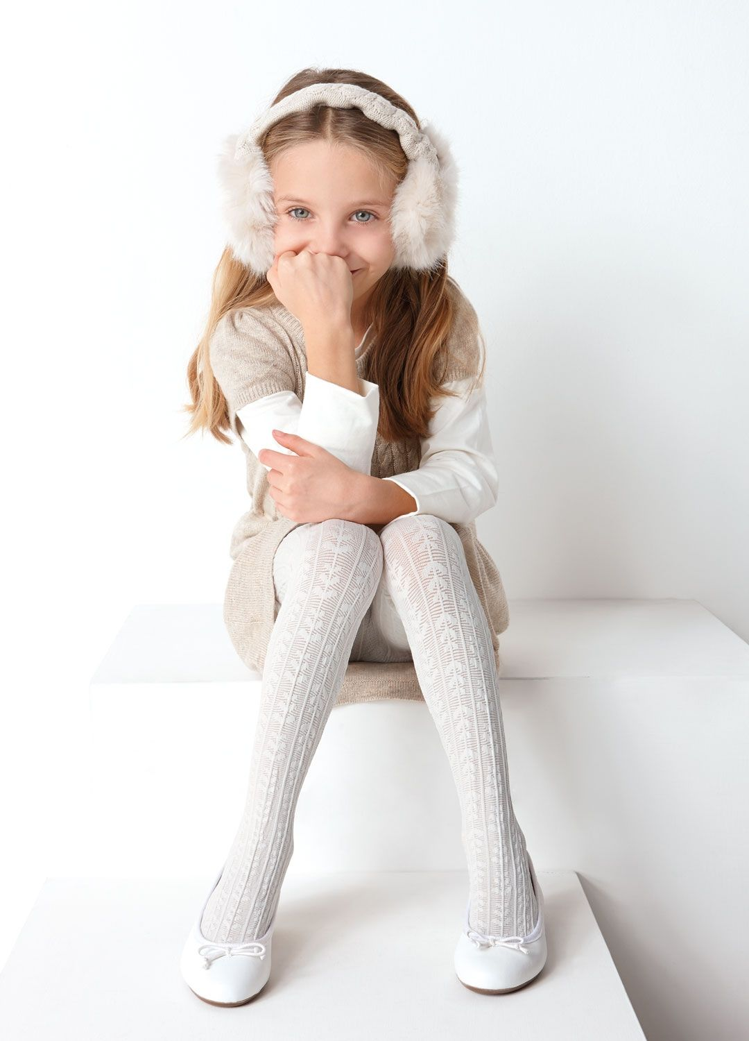 kids in tights Love this White Micromagica Tights - Infant, Toddler & Girls by Franzoni on