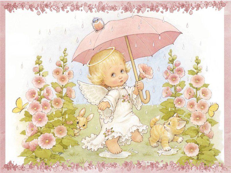 Открытки цветочек милый ангелочек, день