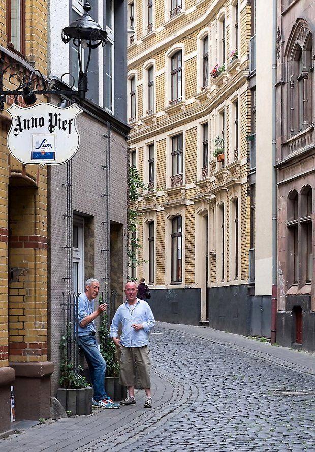 Eigelstein street in Cologne Old Town (Altstadt), Germany ...