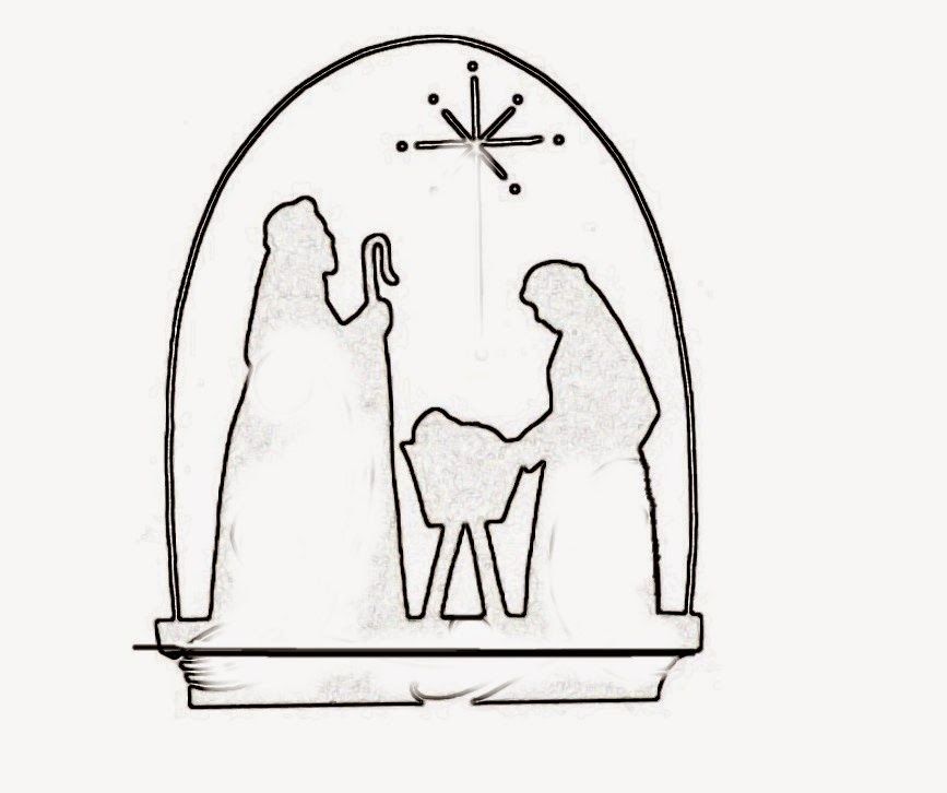 nice nativity scene templates for your christmas decorations
