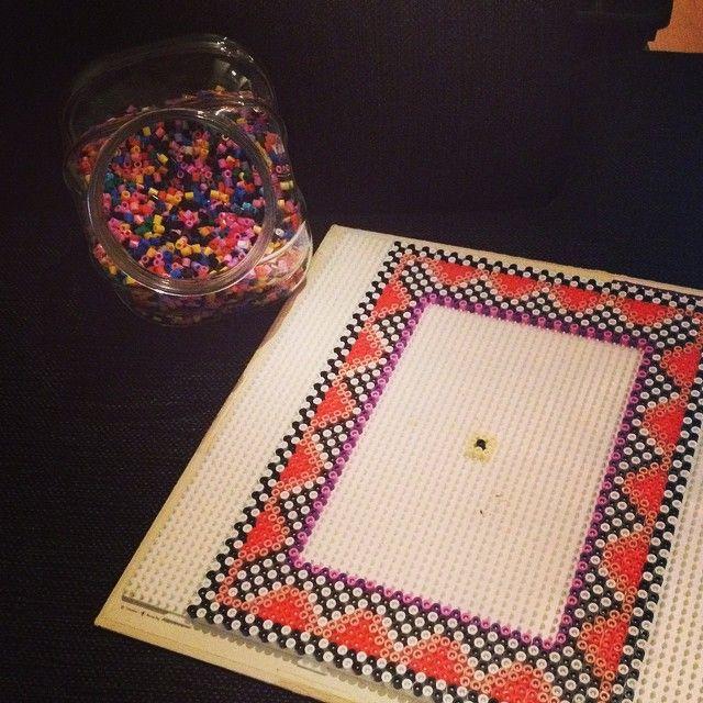Frame hama beads by audurrg | Perler Beads | Beads, Hama