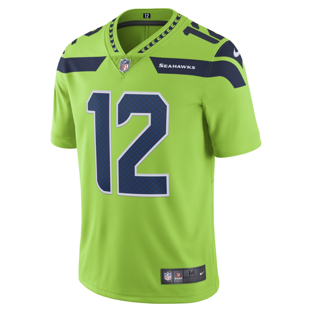 aa4602a1678 NFL Seattle Seahawks Color Rush Limited (Fan) Men's Football Jersey Size  2XL (Action Green)