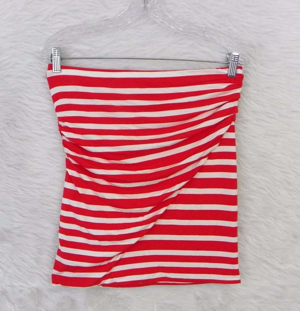 Womens Cabi 789 Blaine Lobster Striped Stretch Knit Tube Top Or Skirt Sz Medium Cabi