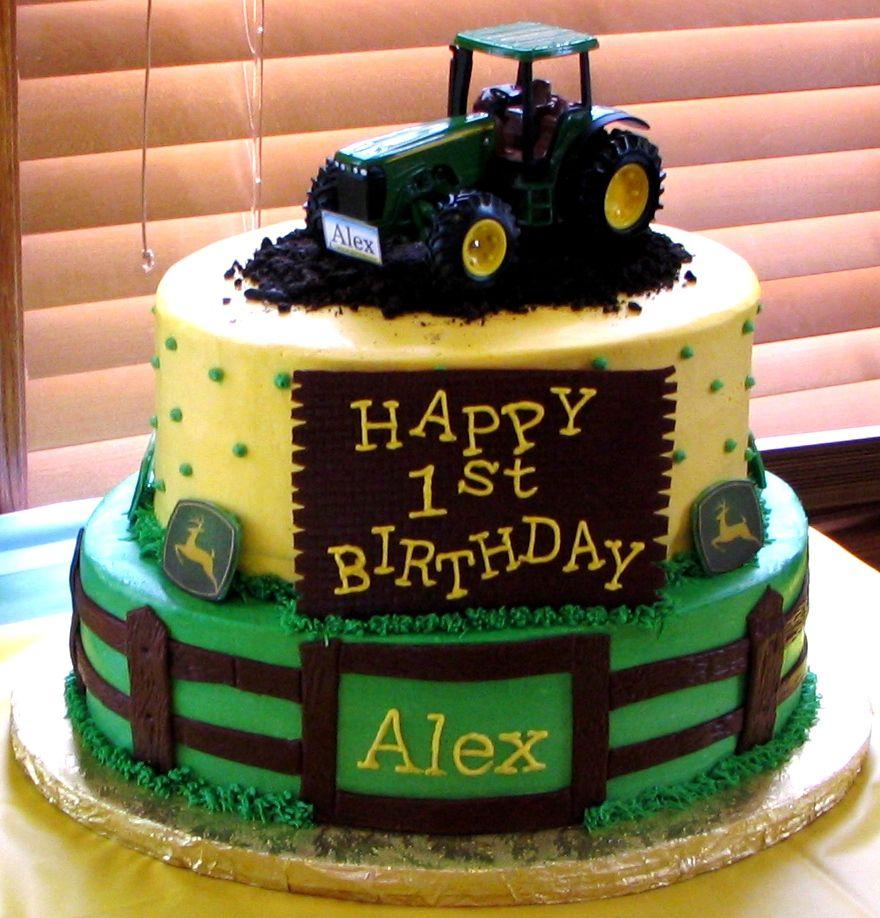 John Deere 1st birthday cake - Cake by Mojo3799 - CakesDecor