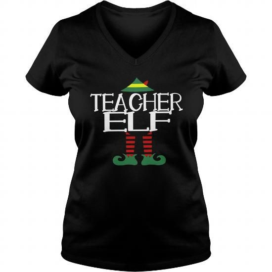 Teacher Elf Tshirt Funny Christmas Party Ugly Sweater T Shirt