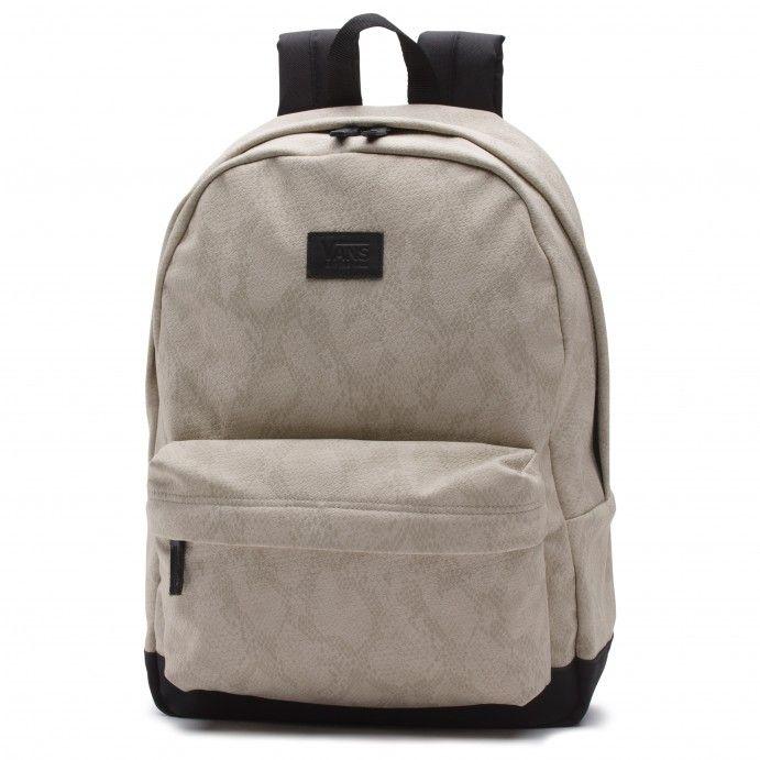 vans rucksack beige