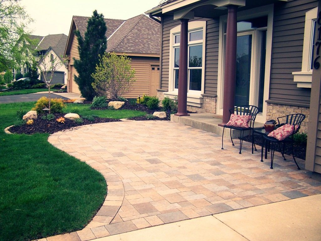 Landscaping Ideas For Front Yard Sitting Area The Garden Also Patios 2017