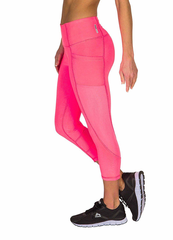 7930638ad5a4e4 Amazon.com: RBX Active Women's Power Capri Length Legging with Mesh  Blocking: Clothing