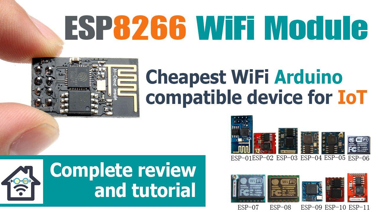 ESP8266 Arduino WiFi module tutorial and review | Internet