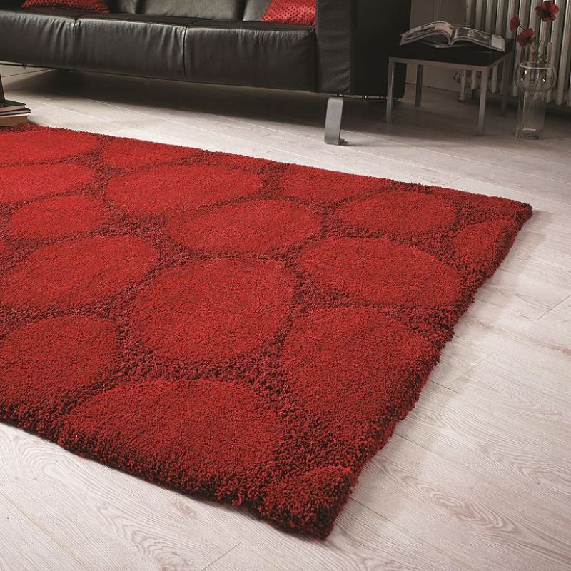 tapis shaggy esprit relaxx rouge brique shaggy. Black Bedroom Furniture Sets. Home Design Ideas
