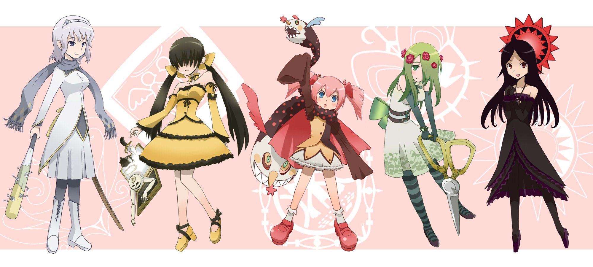 Witches From Madoka Magica As Magical Girls My Favourites Are Charlotte Gertrude And Ellie Madoka Magica Anime Witch Magical Girl