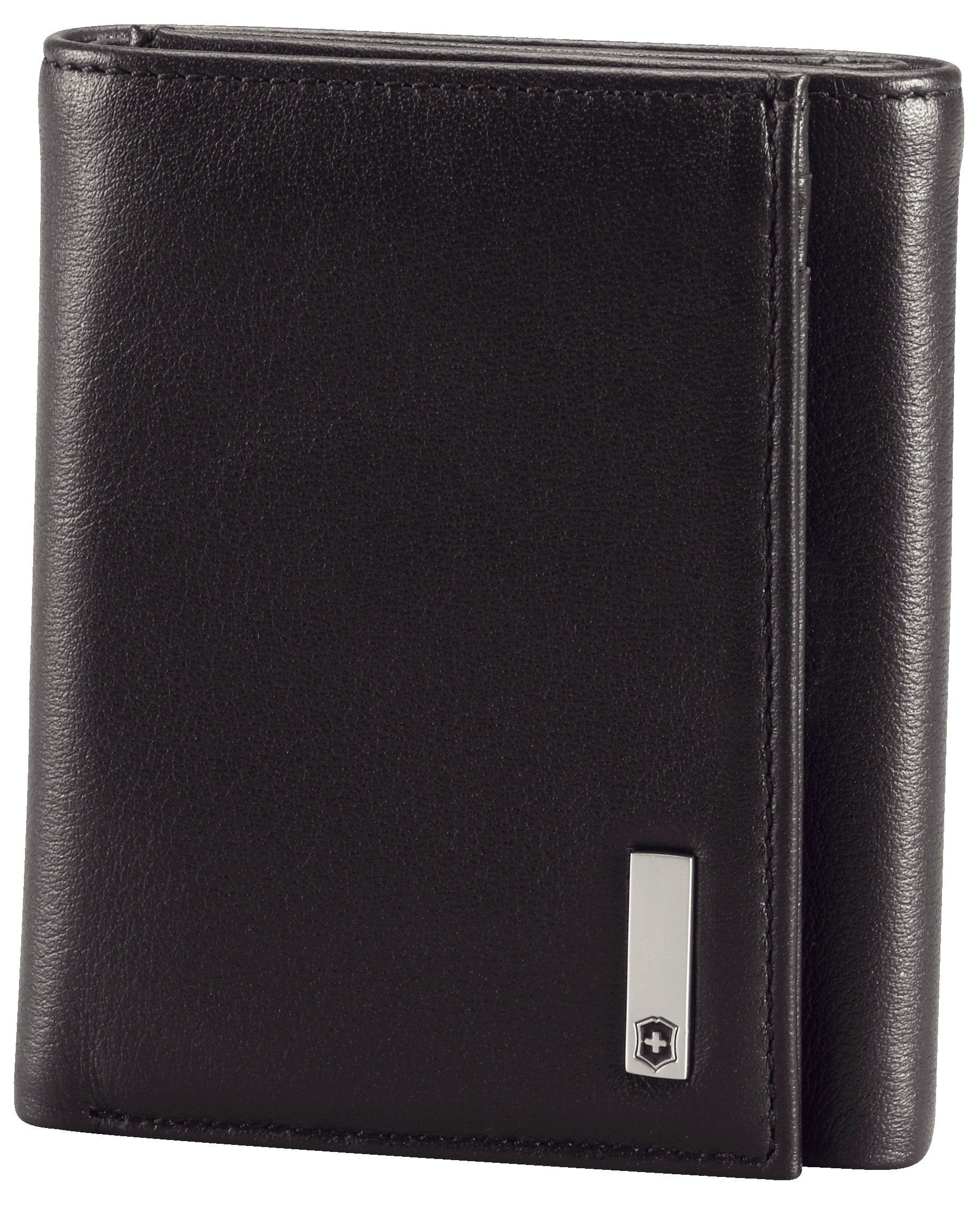 Victorinox Altius 3.0 Black Leather Athens Trifold Wallet