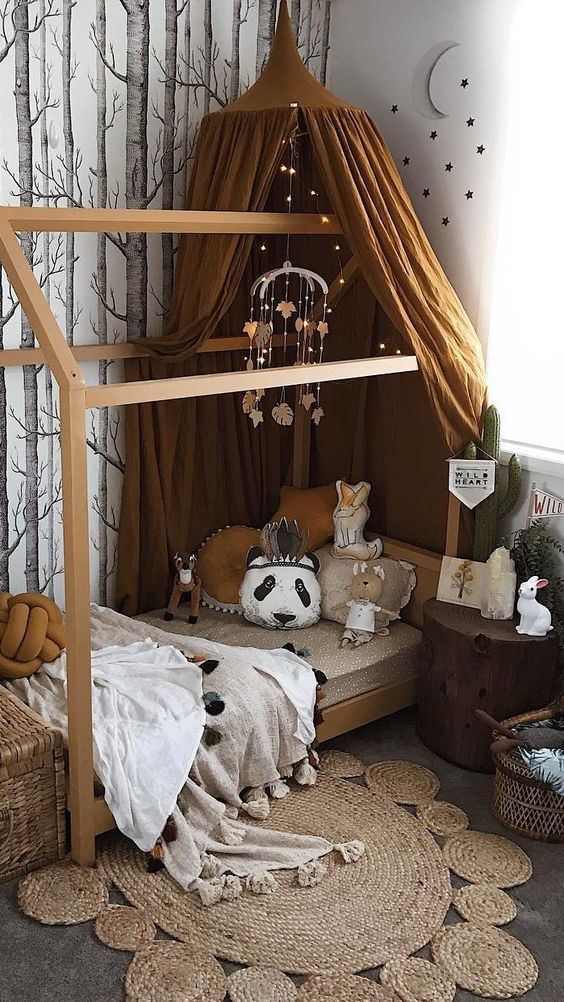 Cama Casita Montessori Ideas Para Decorar Habitacion De Ninos - Ideas-para-decorar-una-habitacion