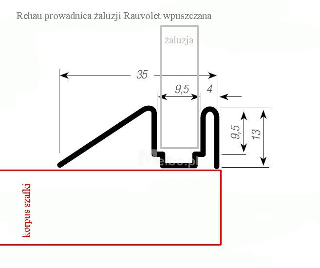 Zaluzja Roleta Meblowa Rehau E23 Metalik Na Wymiar Floor Plans