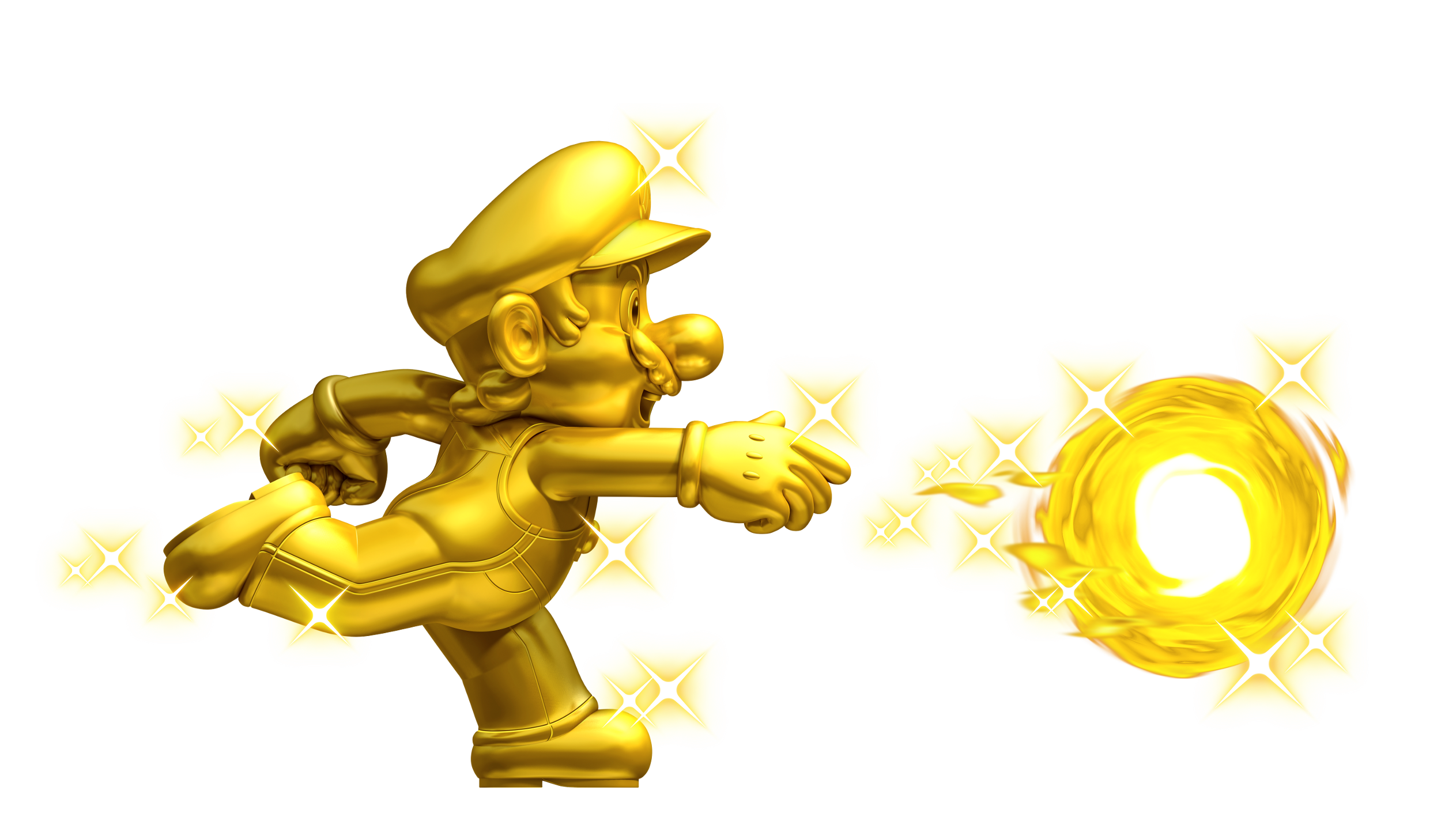 Gold Mario Throwing A Golden Fireball Super Mario Super Mario Bros Mario Bros