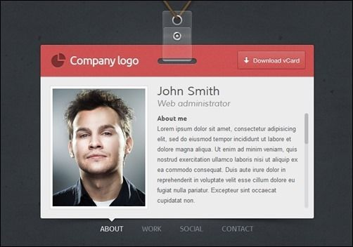 Resume Website Template 60 Beautiful Vcard Template Collection For Online Resumes  Web