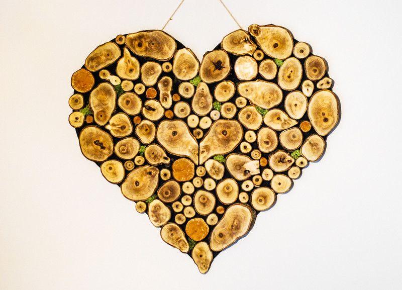 Serce Plastry Drewna Project Fik Ozdoby Na Sciane Diy Diy