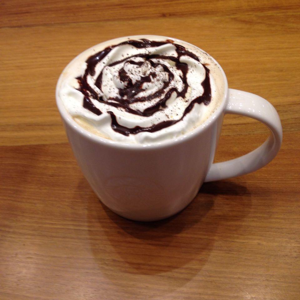 Starbucks venti hot French vanilla