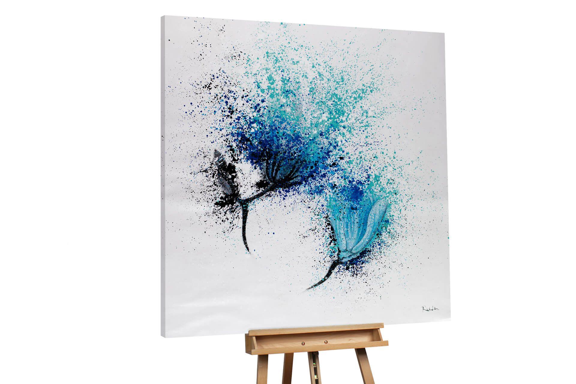 ol gemalde fantastic flowers 150x150cm grosse bilder leinwand foto auf 80x60 poster drucken