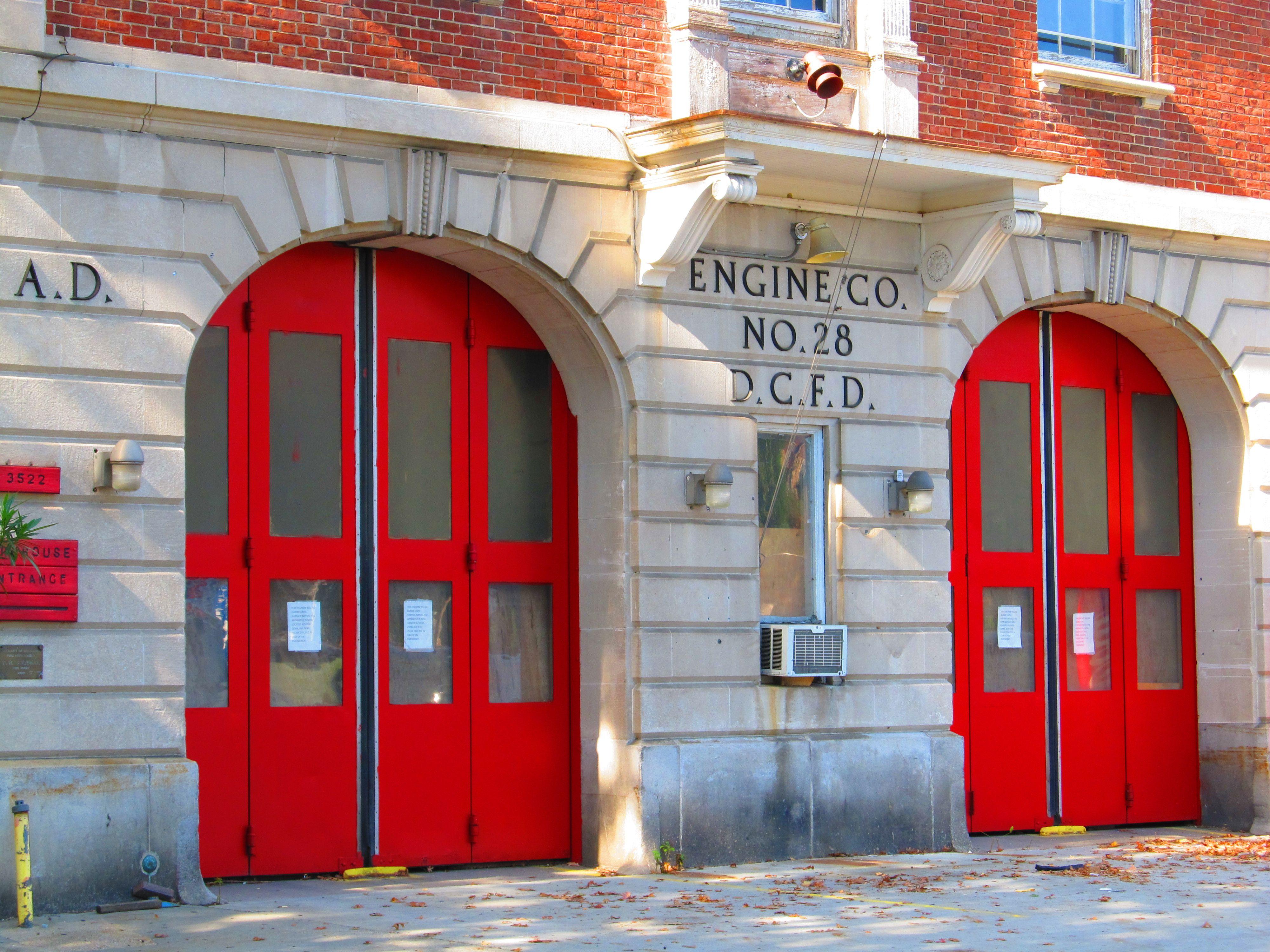 Red Firehouse Doors In Dc Vibrant Red Door Doors Beautiful