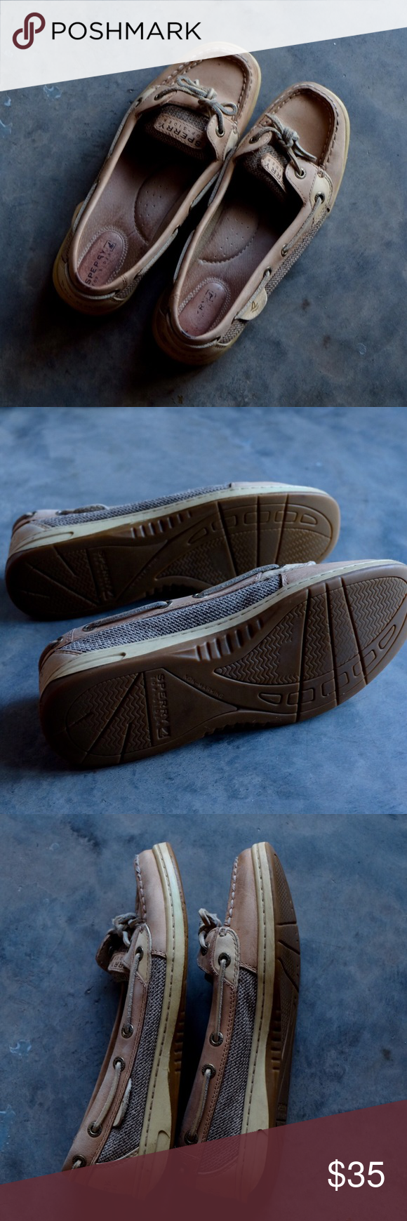 Sperry Top Sider - Firefish boat shoe Worn but in great condition - no longer wear enough to justify amount I purchased for!  No major flaws. Sperry name worn out on inside of shoe/footbed.  Please make an offer!  Sorry no trades. Sperry Top-Sider Shoes