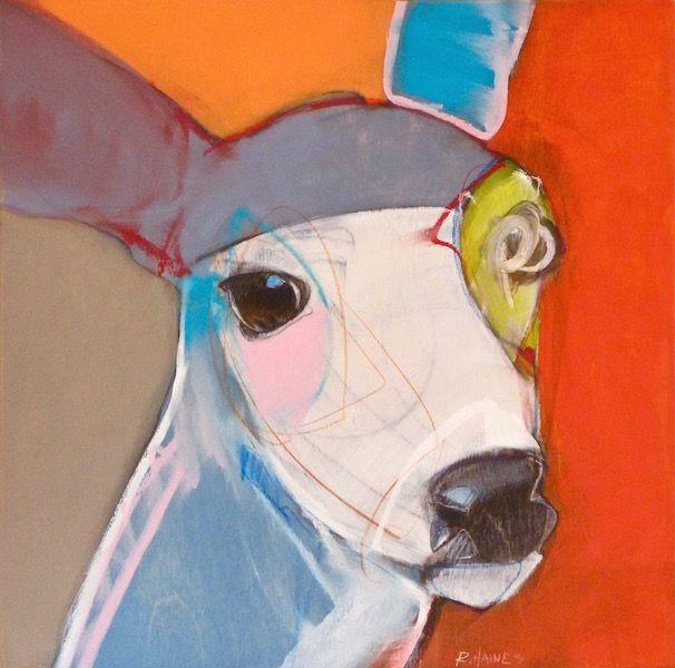 Skittle, Rebecca Haines, 12x12 oil/panel, $950. #rebeccahainesart #santafeart #animalart