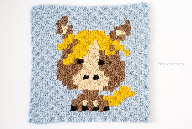 Zoodiacs Horse C2C Crochet Graph | Kuscheltiere, Vorlagen und Häkeln