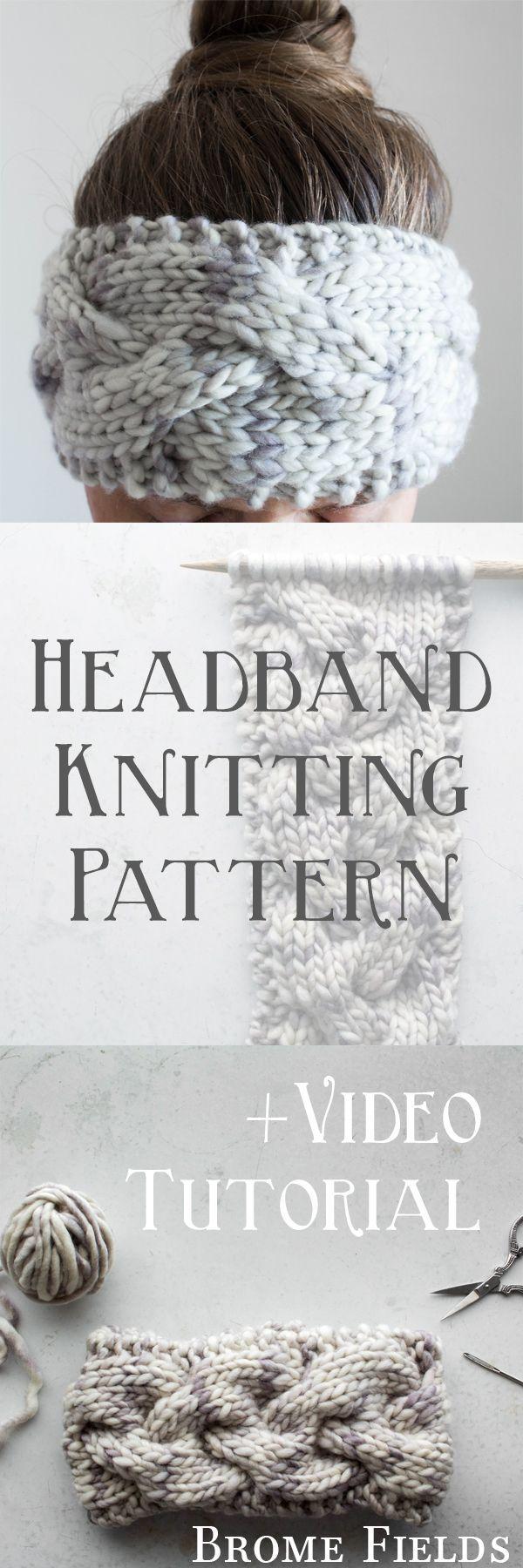 Headband Knitting Pattern : Braided Cable Knit Stitch : GOODNESS by ...