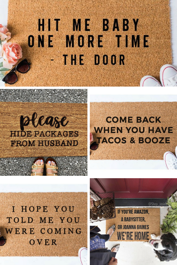 Too Funny Love These Hilarious Welcome Mats Perfect For Making A Statement Homedecor Porchdecor Little Door Mat Diy Welcome Mats Personalized Door Mats