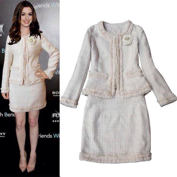 White Tweed Jacket   Tweed Skirt | Tweed | Pinterest | Tweed skirt ...