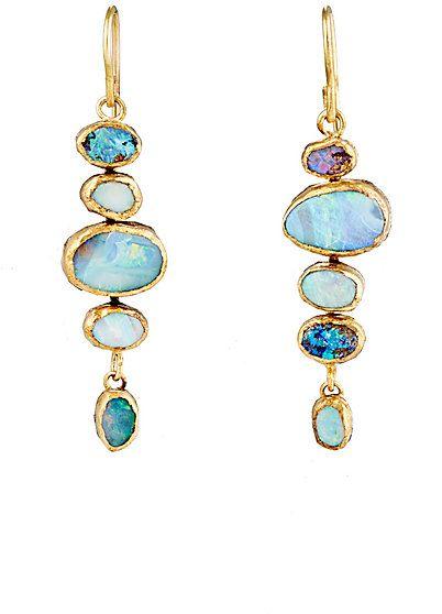 Judy Geib Opal Drop Earrings Barneys Opalsaustralia