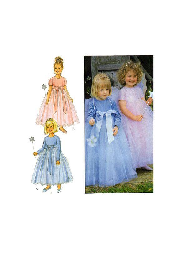 Little Girl, fancy dress, sewing pattern, Simplicity 9036, empire ...