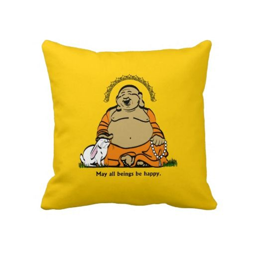 Happy buddha throw pillow | Buddha, Pillows and Throw pillows
