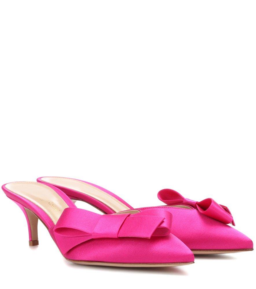 pointed mules - Pink & Purple Gianvito Rossi 2niB5tw