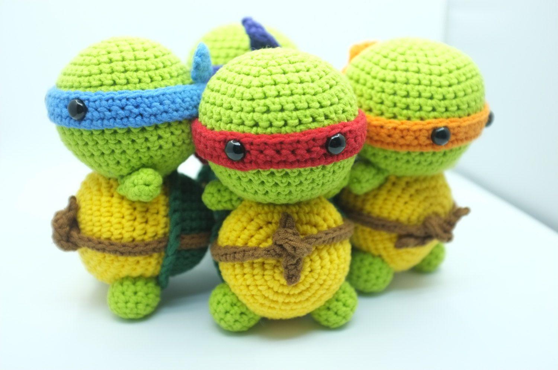PATTERN - Ninja Turtle TMNT Amigurumi Crochet PDF Instant Download ...