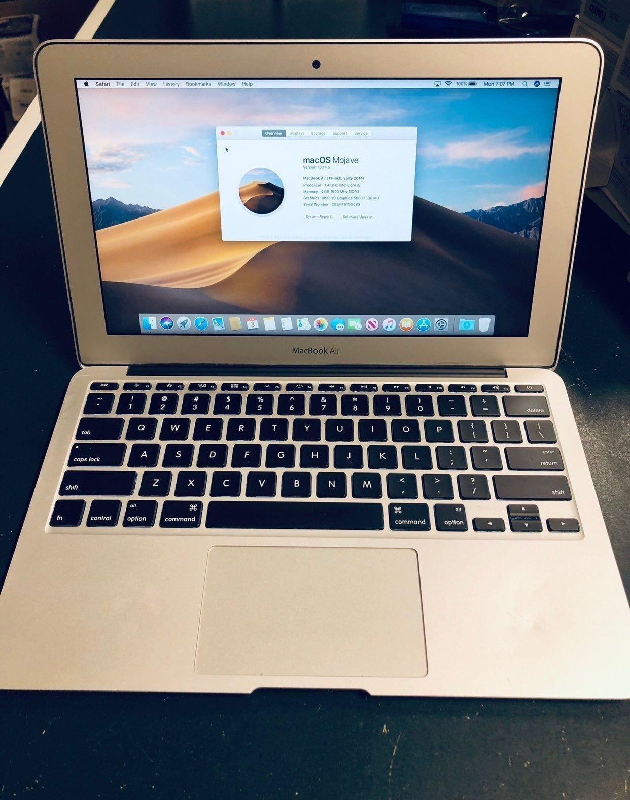 * Apple MacBook Air 11 inch Early 2014 * Intel Core i5 1.4