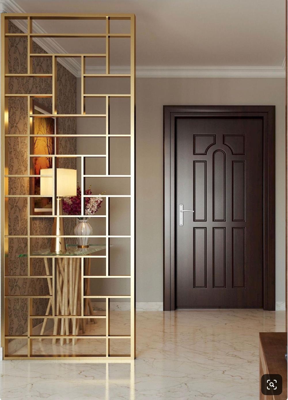 15 Creative Ideas For Room Dividers: Claustra Entree Metal Dore Elegant