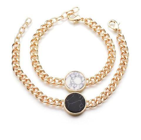 Vintage Gold Charm Filigree Easy Hook Wrap Bracelet