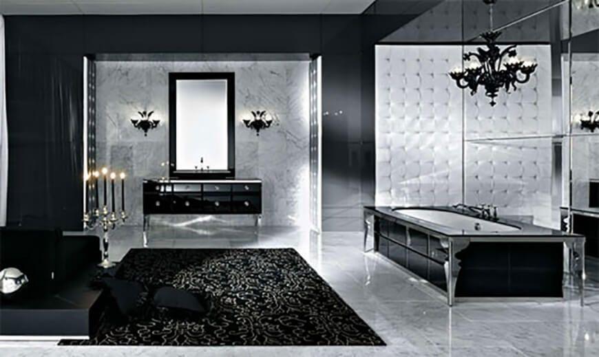 80 Master Bathrooms With Chandelier Lighting Photos Modern