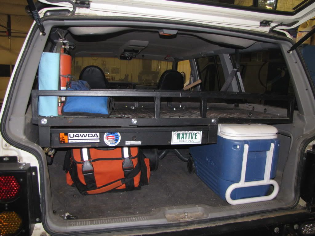 I like this storage rack for the cherokee xj