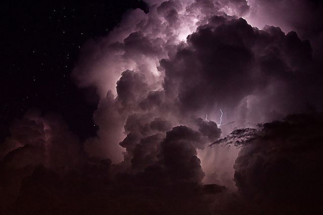 Awesom Storm Front That Darkened >> Purple Storm In 2019 And The Rest Is Rust And Stardust Clouds