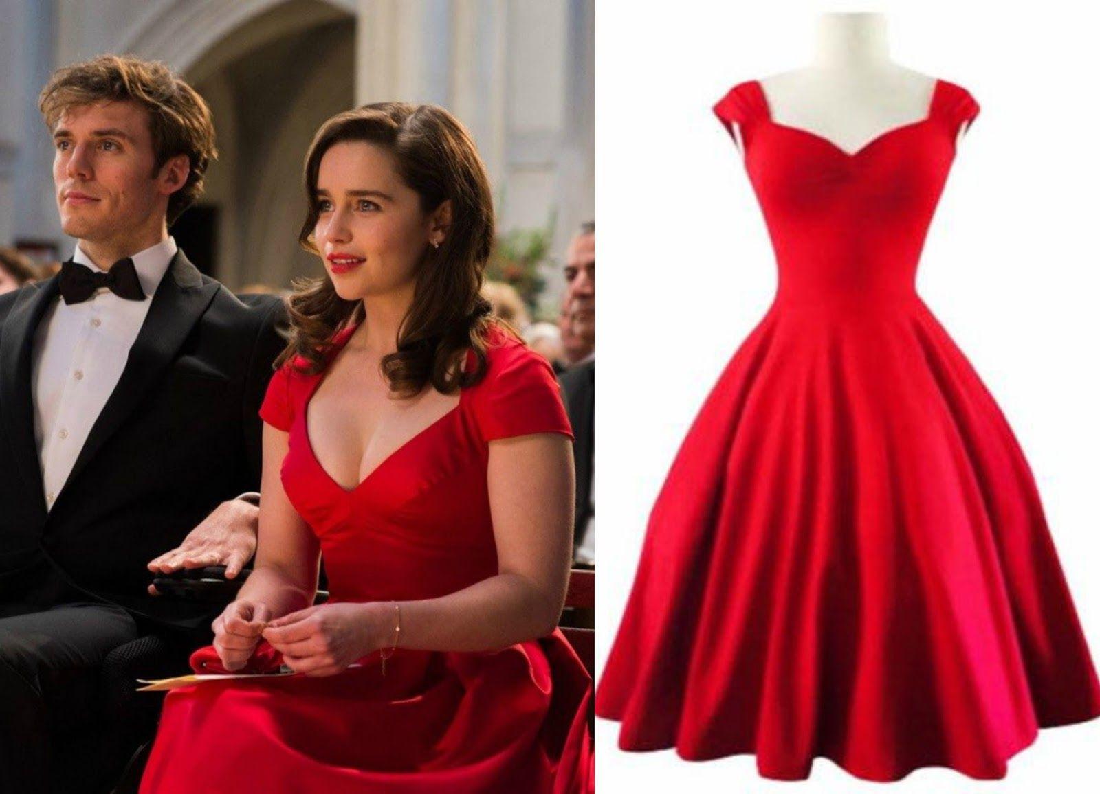 501d5e0148859e Image result for me before you movie - costumes. Emilia Clarke Grad Dresses,  Cute Red ...